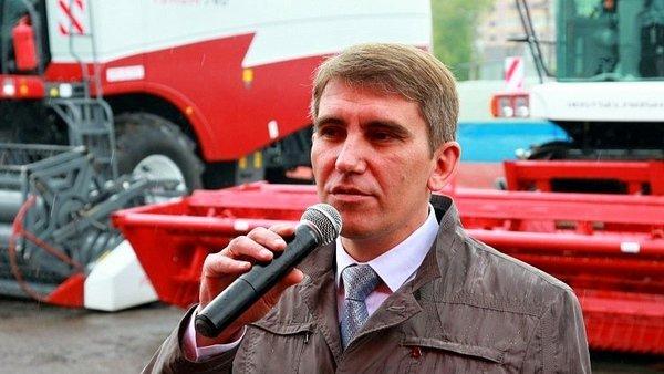 Дмитрий Миляев на открытии ООО «Комбайновый завод «Ростсельмаш»